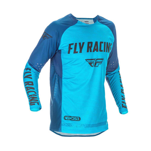 Fly Racing 2021 Evolution DST Adult MX Jersey Blue/Black