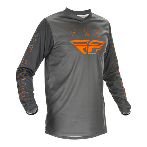 Fly Racing 2021 F-16 Youth MX Jersey Grey/Orange