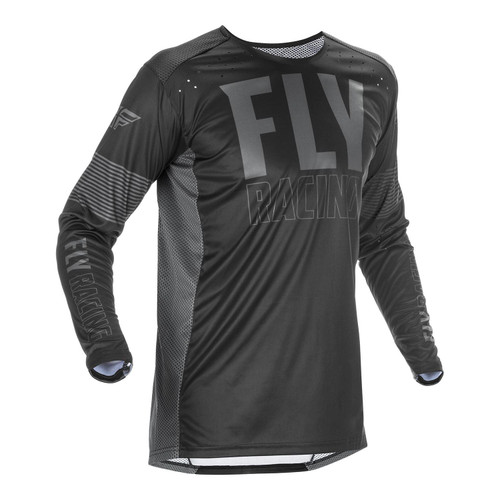 Fly Racing 2021 Lite Adult MX Jersey Black/Grey