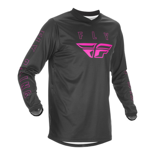 Fly Racing F-16 Adult MX Jersey Black/Pink