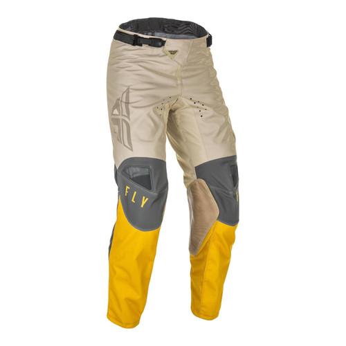 Fly Racing 2021 Kinetic K121 Adult MX Pant Mustard/Stone/Grey