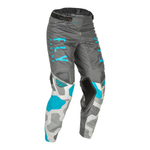 Fly Racing 2021 Youth Kinetic K221 MX Pant Grey/Blue