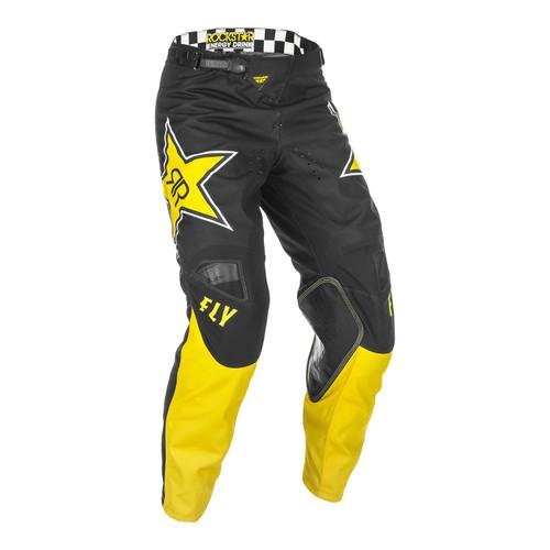 Fly Racing 2021 Kinetic Rockstar Adult MX Pant Yellow/Black