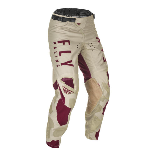 Fly Racing Kinetic K221 Adult MX Pant Stone/Berry
