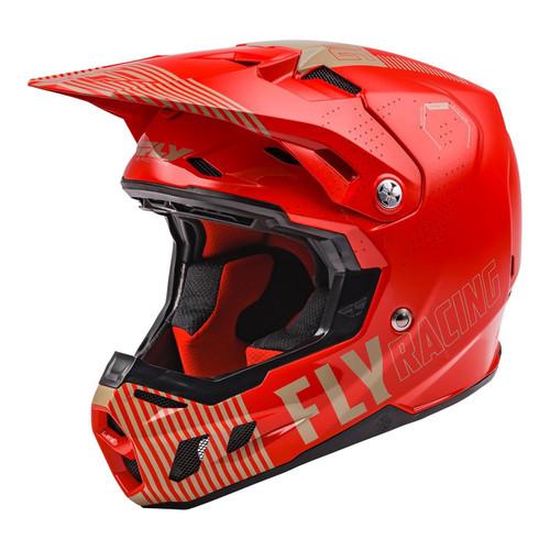Fly Racing 2021 MX Helmet Formula CC Primary Red/Khaki