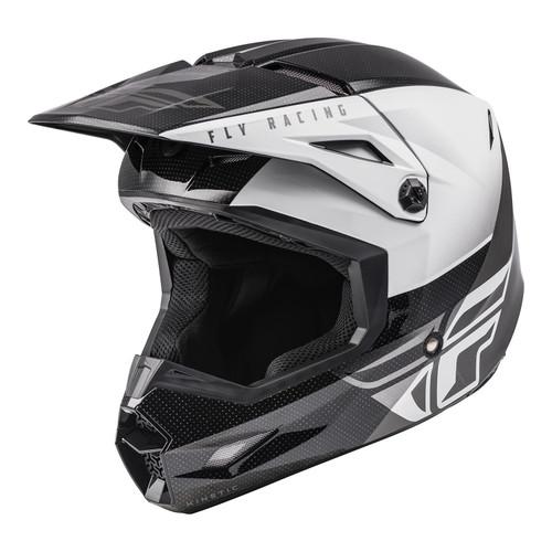 Fly Racing 2021 Kinetic Straight Edge MX Helmet Black/White