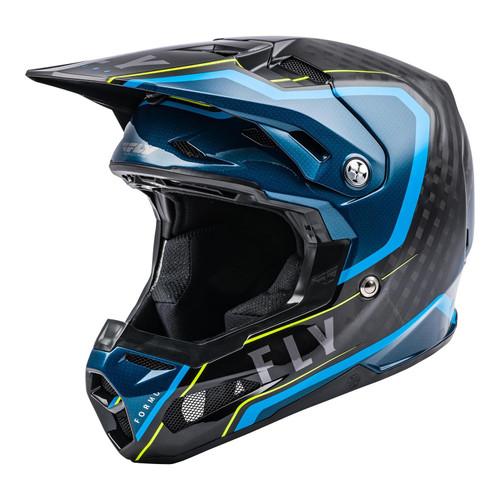 Fly Racing 2021 MX Helmet Formula Carbon Axon Black/Blue