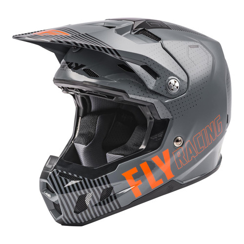 Fly Racing 2021 MX Helmet Formula CC Primary Matte Grey/Orange