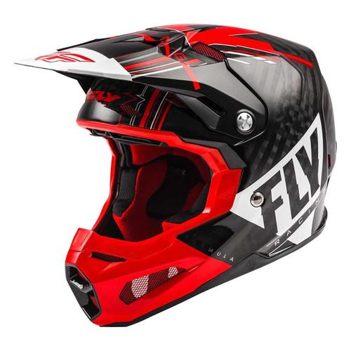 Fly Racing 2021 Formula Vector Adult MX Helmet Red/White/Black