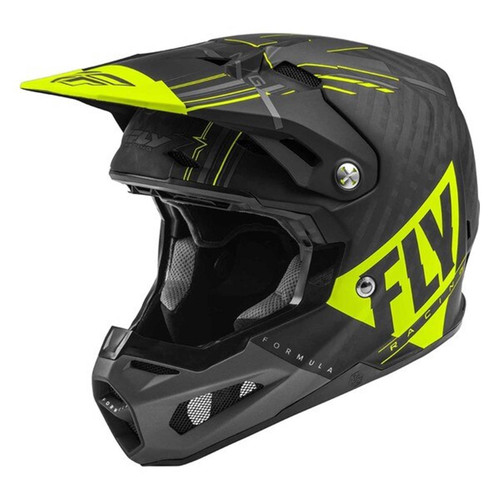 Fly Racing 2021 Formula Vector MX Helmet Hi-Viz/Grey/Black