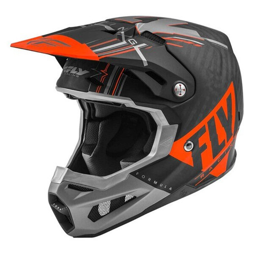 Fly Racing 2021 Formula Vector Adult MX Helmet Orange/Grey/Black