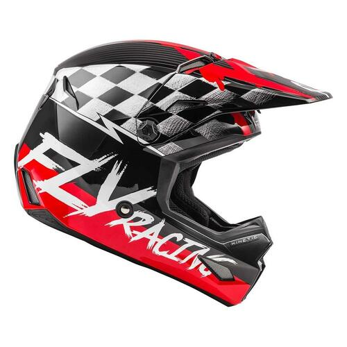 Fly Racing 2021 Youth Kinetic Sketch MX Helmet Red/Black/Grey