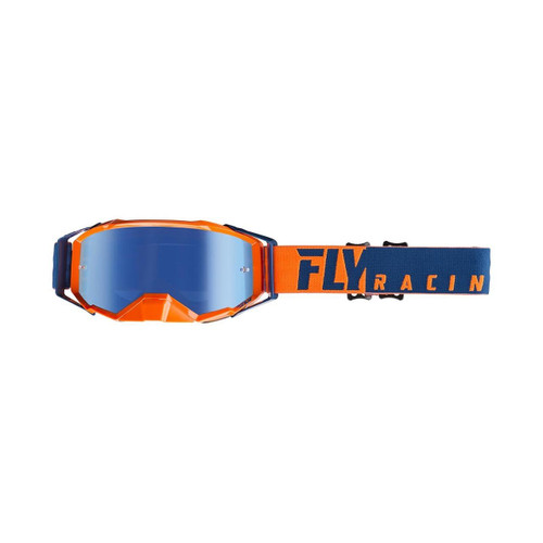 Fly Zone Pro Goggle Adult (Orange/Blue) Blue Mirror/Smoke Lens