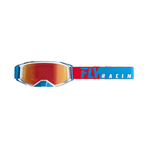 Fly Zone Pro Goggle Adult (Red/White/Blue) Blue Mirror/Smoke Lens