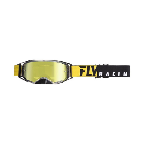 Fly Zone Pro Goggle Adult (Black/Yellow) Gold Mirror/Smoke Lens