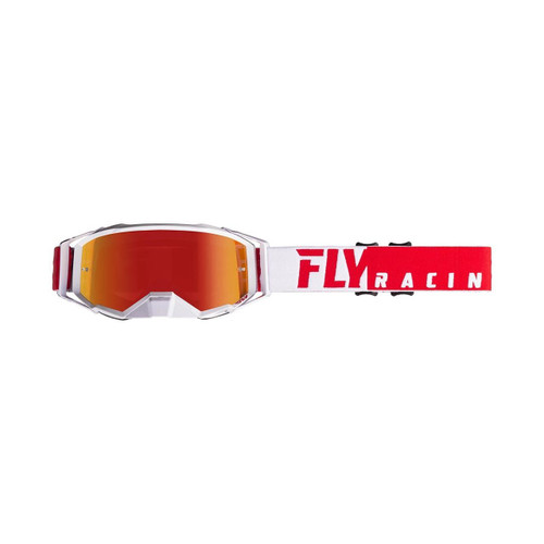 Fly 2020 Zone Pro Goggle Adult (Red/White) Red Mirror/Smoke Lens