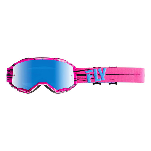 Fly Zone Goggle Adult (Hi-Viz Pink/Blue) Blue Mirror/Smoke Lens