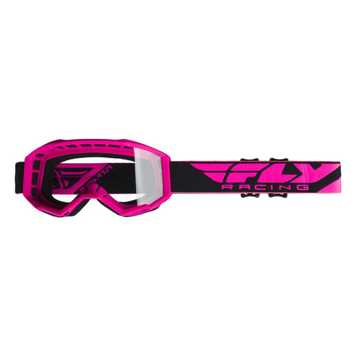 Fly 2020 Focus Goggle Adult (Hi-Viz Pink) Clear Lens