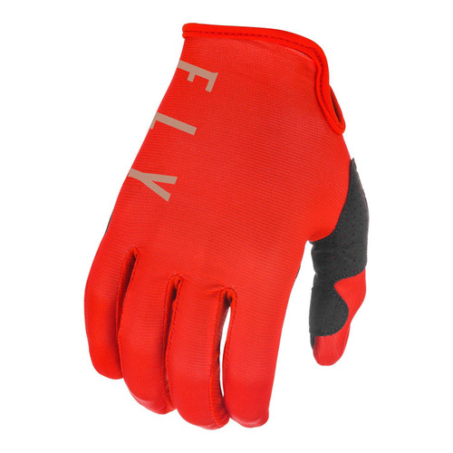 Fly Racing 2021 Lite Youth MX Gloves Red/Khaki