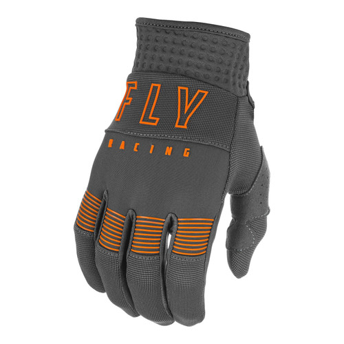 Fly Racing 2021 Youth F-16 MX Gloves Grey/Orange