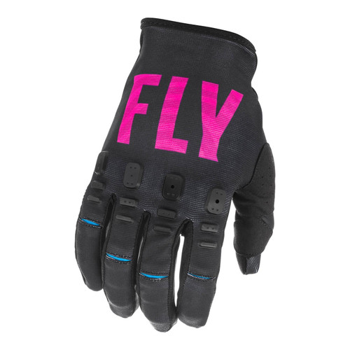 Fly Racing 2021 Youth Kinetic SE MX Gloves Black/Pink/Blue