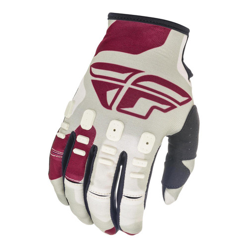 Fly Racing 2021 Youth Kinetic K221 MX Gloves Stone/Berry