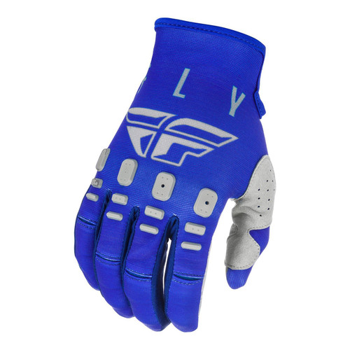 Fly Racing 2021 Youth Kinetic K121 MX Gloves Blue/Navy/Grey