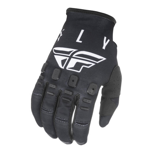 Fly Racing 2021 Youth Kinetic K121 MX Gloves Black/White