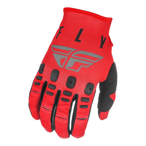 Fly Racing 2021 Youth Kinetic K121 MX Gloves Red/Grey/Black