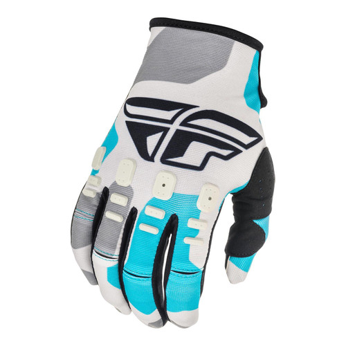 Fly Racing 2021 Youth Kinetic K221 MX Gloves Grey/Blue