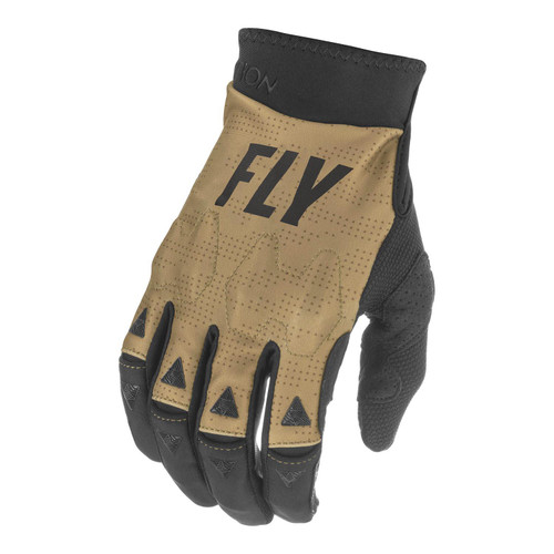 Fly Racing 2021 Evolution DST Adult MX Gloves Khaki/Black/Red