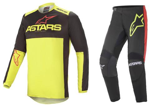 Alpinestars 2021 Fluid Tripple MX Gear Black/Yellow/Red