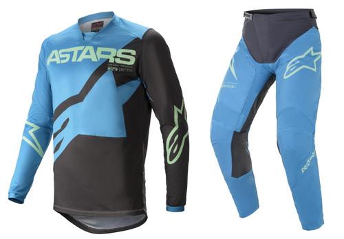 Alpinestars 2021 Racer Braap Adult MX Gear Ocean Blue/Mint