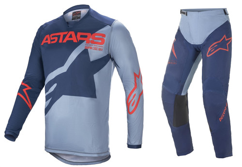 Alpinestars 2021 Racer Braap Adult MX Gear Dark Blue/Powder Black/Bright Red