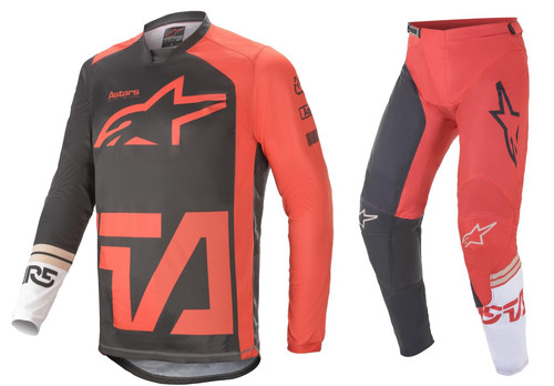 Alpinestars 2021 Racer Compass Adult MX Gear Anthracite/Red Fluo/White