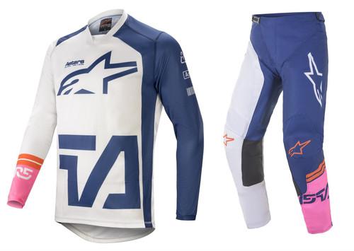 Alpinestars 2021 Racer Compass Adult  MX Gear Off White/Navy/Pink