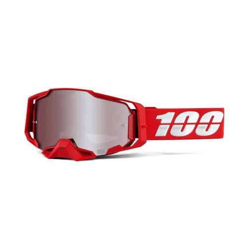 100 Percent ARMEGA Goggle Red - HiPER Silver Mirror Lens