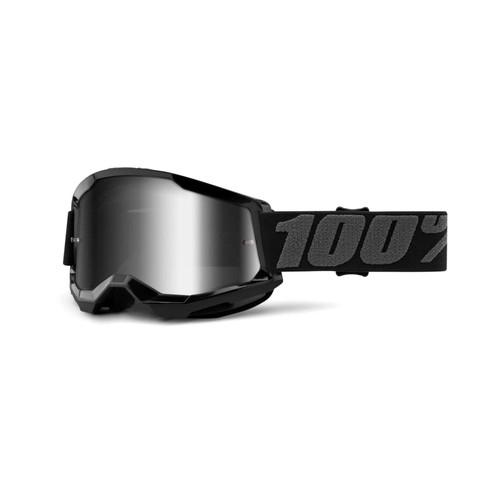 100 Percent STRATA 2 Goggle Black - Mirror Silver Lens