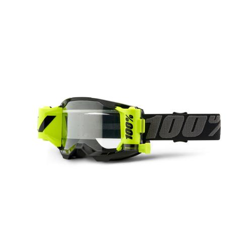 100 Percent STRATA 2 FORECAST Goggle Black - Clear Lens