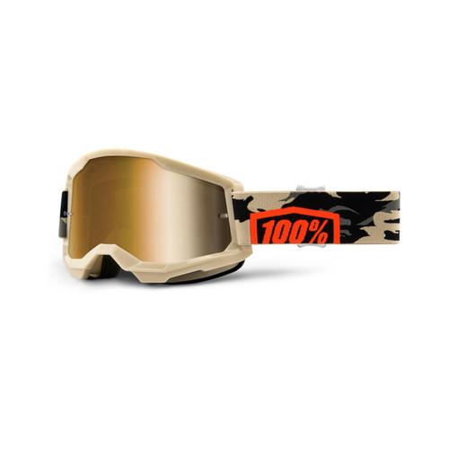 100 Percent STRATA 2 Goggle Kombat - True Gold Lens