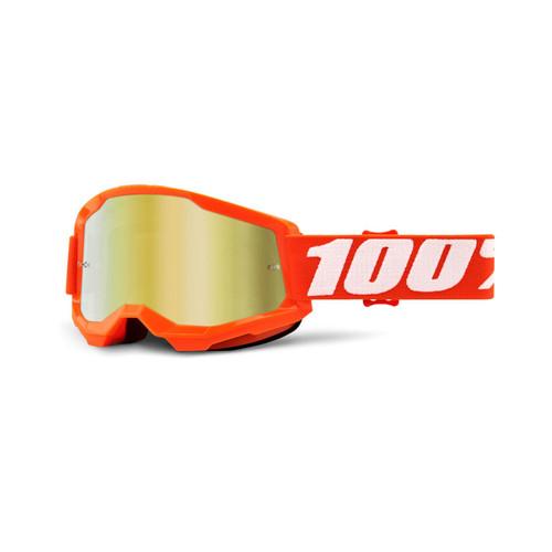 100 Percent STRATA 2 Goggle Orange - Mirror Gold Lens