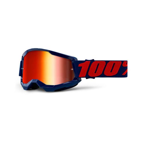 100 Percent STRATA 2 Goggle Masego - Mirror Red Lens