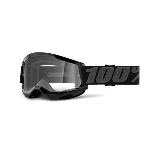 100 Percent STRATA 2 Goggle Black - Clear Lens