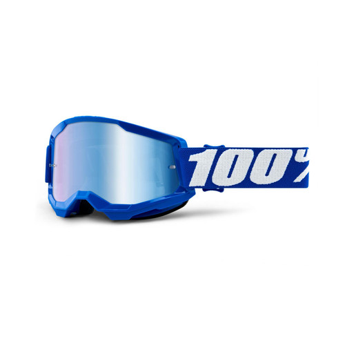 100 Percent STRATA 2 Goggle Blue - Mirror Blue Lens