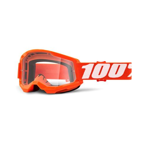 100 Percent STRATA 2 Goggle Orange - Clear Lens