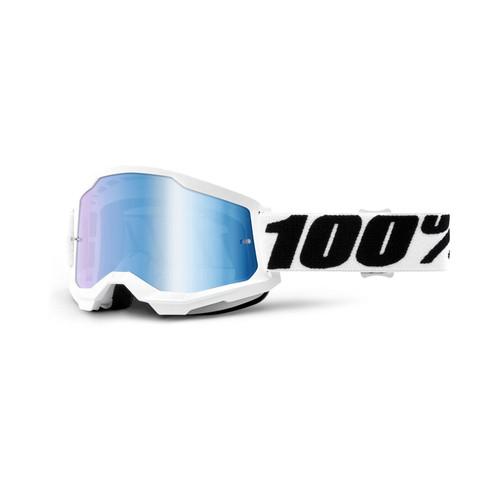 100 Percent STRATA 2 Goggle Everest - Mirror Blue Lens