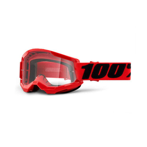 100 Percent STRATA 2 Goggle Red - Clear Lens