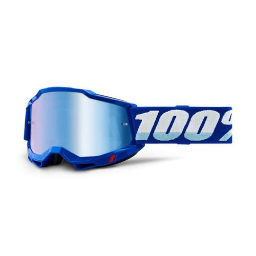 100 Percent ACCURI 2 Goggle Blue - Mirror Blue Lens