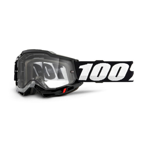 100 Percent ACCURI 2 Enduro Moto Goggle Black - Clear Lens