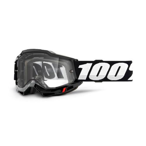 100 Percent ACCURI 2 Enduro Moto Goggle Black - Clear Lens